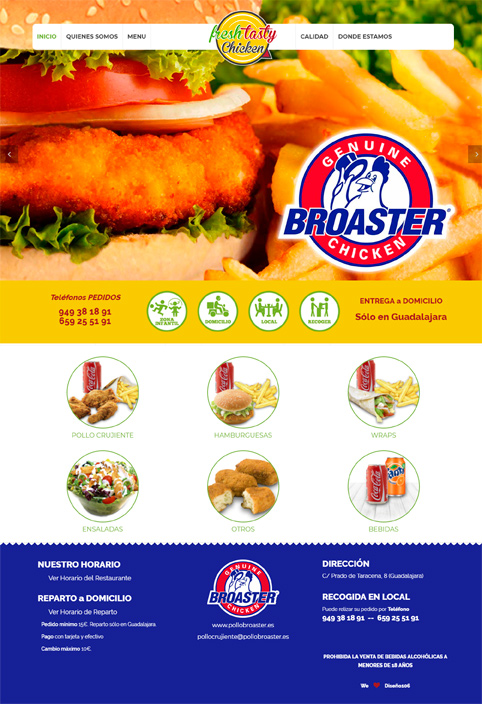 Página Web Fresh Tasty Chicken - Broaster