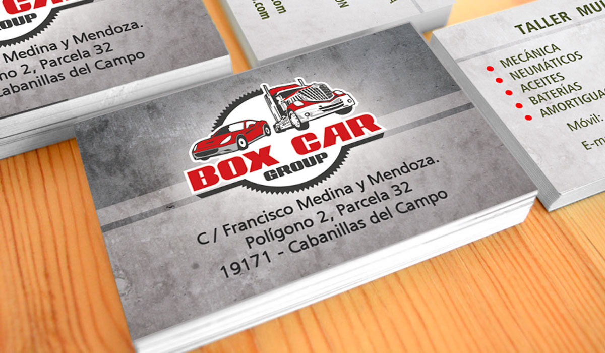 Logotipo y Tarjetas de visita BOX CAR
